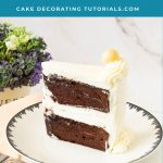 Pinterest image for chocolate layer cakes.