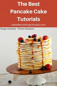A pancake cake can be a fun cake for any age and any gender. While it looks like a complicated cake it really is fairly simple and easy. It does require a little bit of patience and time because making each layer of pancake can be feel like a never ending job. It is a fun project if you are a cake decorating.