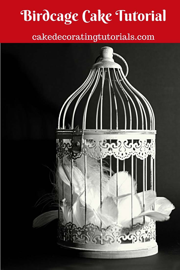 A birdcage cake is a fun celebration cake to make for birthdays, celebrations to the wedding cake. The options for design variations are plenty from simple, floral, rustic to vintage.  It's can be a cake topper, a cake or a mini cake on top fo a multi-tiered cake.