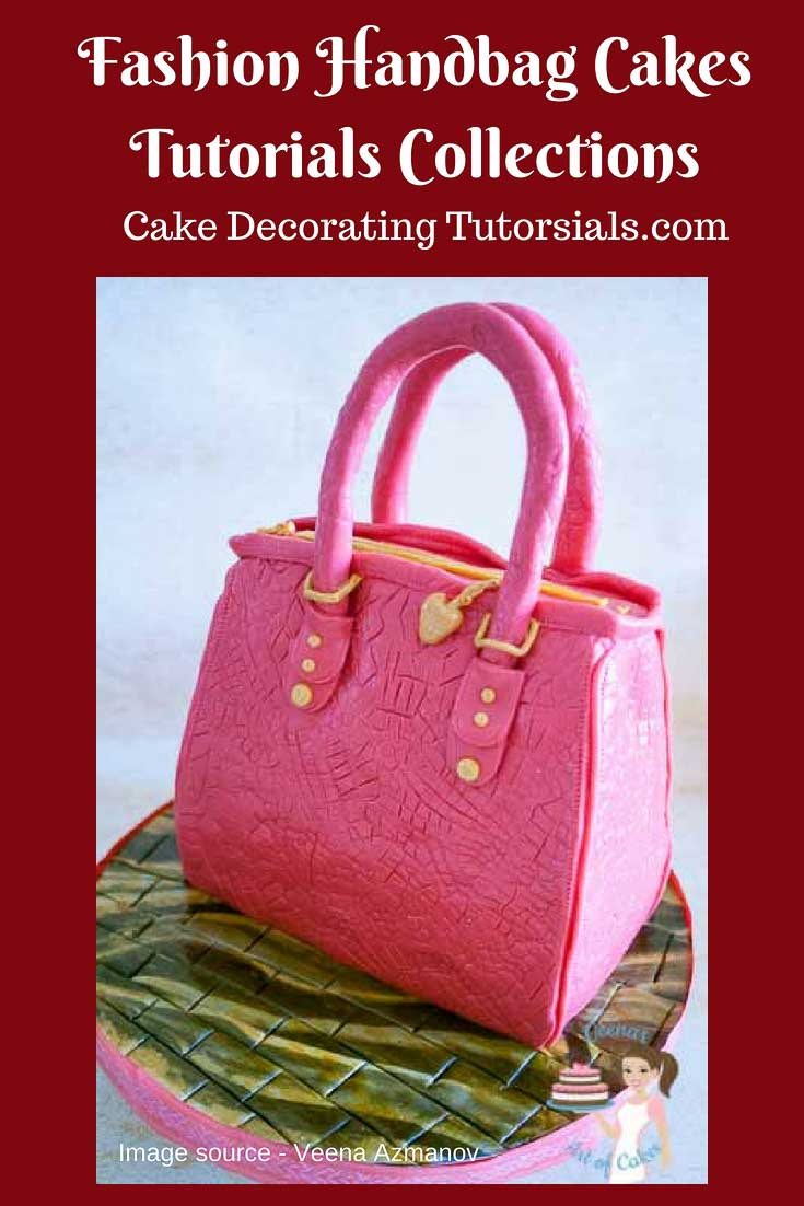 A Pinterst optimized image of Handbag Cake Tutorial.