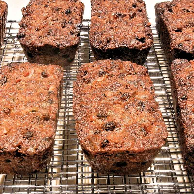 The best recipe for traditional dark fruitcake made with soaked fruits and alcohol. A perfect Christmas, wedding or christening cake.