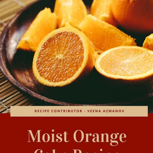 A simple, moist orange cake recipe that is fragrant, tender and melts in the mouth delicious. Easy recipe that takes no more than five minutes to combine. A perfect tea time treat made with fresh orange juice and zest for that ultimate orange flavor.