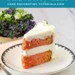 Pinterest image for strawberry layer cake.