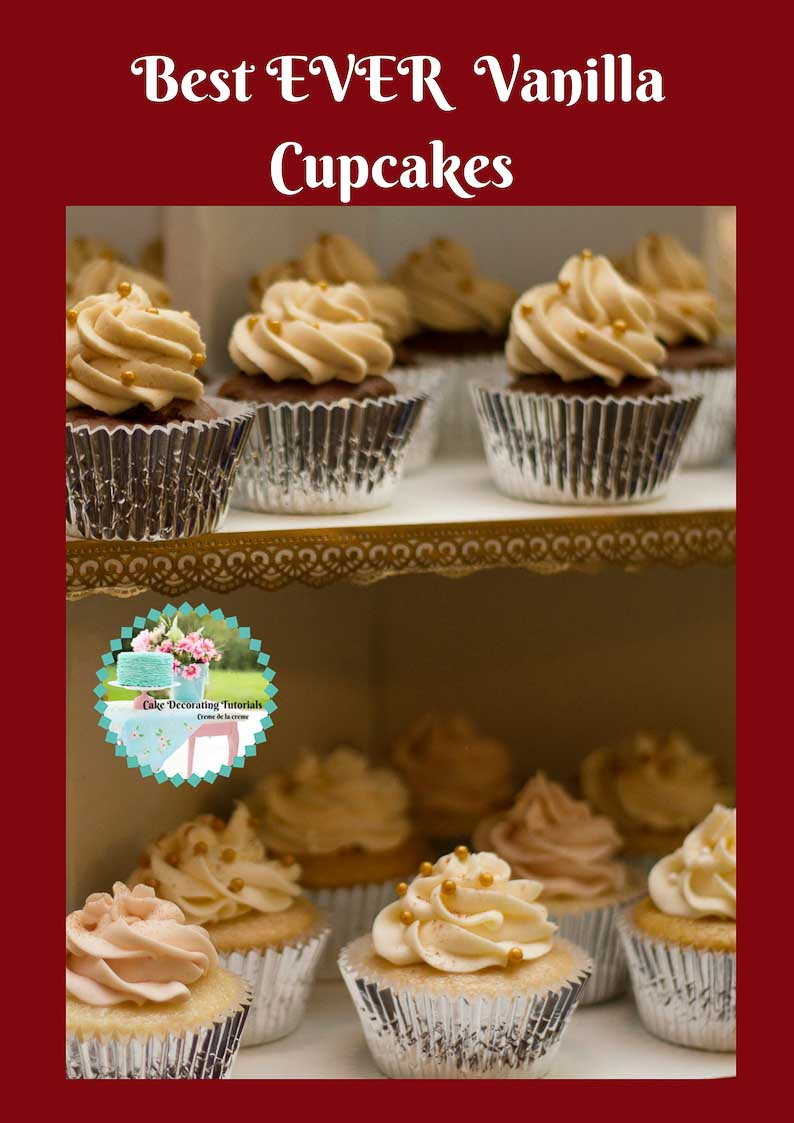 Best ever vanilla cupcakes recipe with vanilla buttercream frosting. Perfect celebration cupcakes.