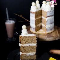 Brown Butter Cake and Whipped Cream Buttercream