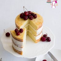 One Bowl Vanilla Cake Recipe from Scratch - Veena Azmanov