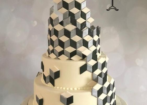 Cake Decorating Tutorial, Optical illusion, Geometric Cakes