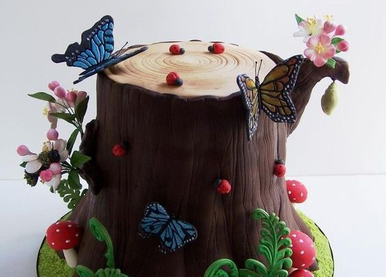 How to Make a Tree Stump Cake Tutorial