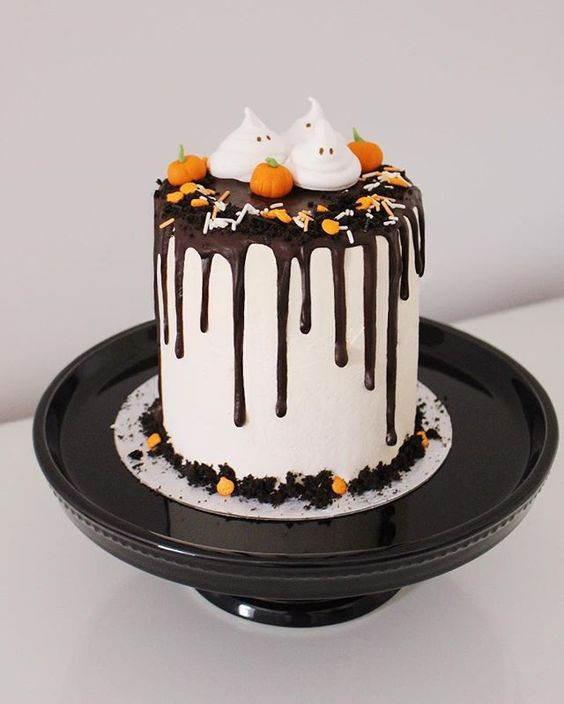 A collection of Halloween Birthday Cakes with Recipes