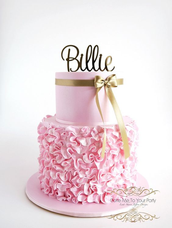 Birthday cake with Ruffles Tutorial