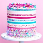How to make Striped on Buttercream Cake - Tutorials