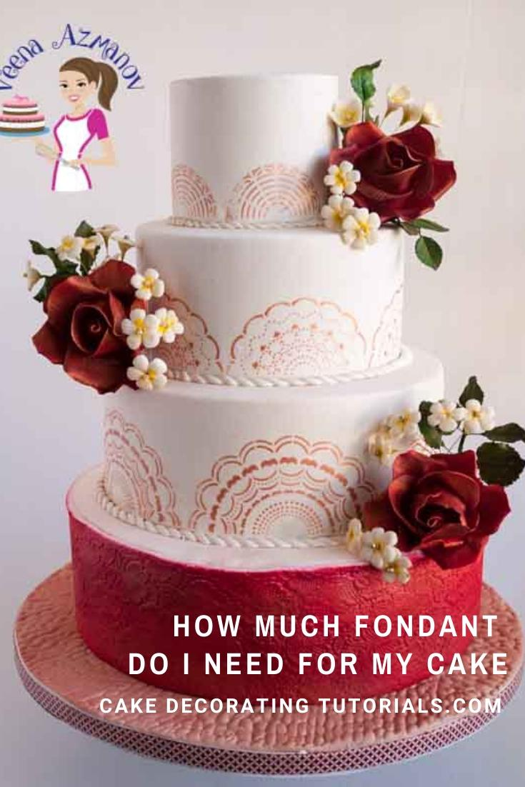 How much Fondant Do I need for my Cake - Cake Decorating ...