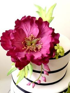 These are the kind of flowers you'd want to top up on a wedding cake