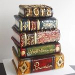 antic book cakes made of cake