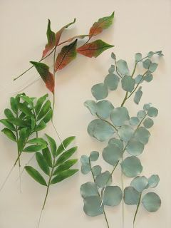 Gumpaste foliage, gumpaste leaves