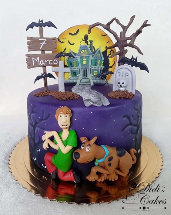 Scooby and shaggy theme cake in our post Disney Theme Cake Tutorials