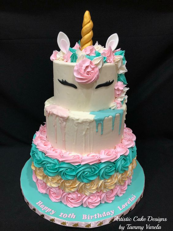 3 tier cake for teen girls