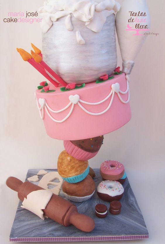 A bakers theme cake for a bakery chef