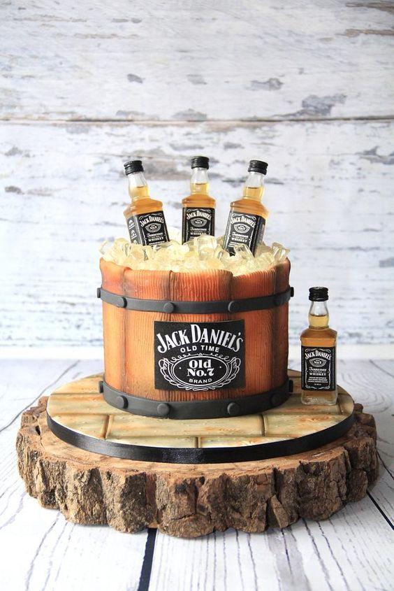 Whiskey theme cake
