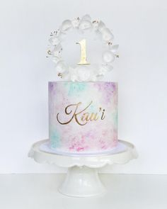 Watercolor cake tutorials - easy cake decorating techniques