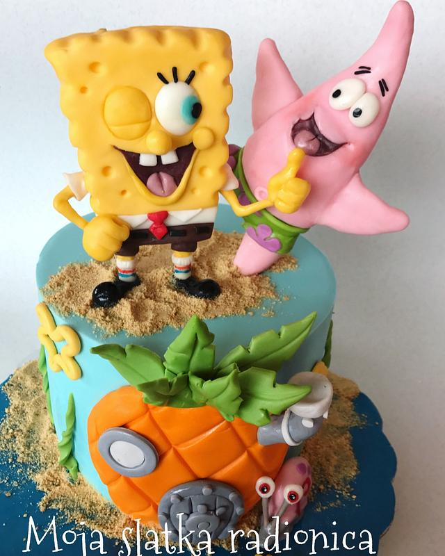 A fun one tier easy to make fondant beauty with bright colored sugar paste