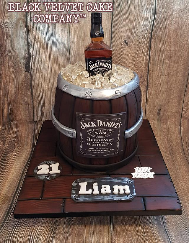 Barrel Jd cake for whiskey lovers birthday