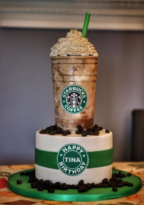 Starbucks cake for a starbucks Lover - Realistic Junk Food Cake Tutorials