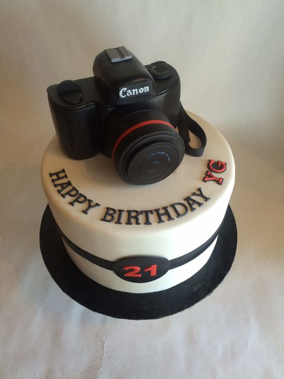 Camera Cake Tutorial on a one tier canon camera cake