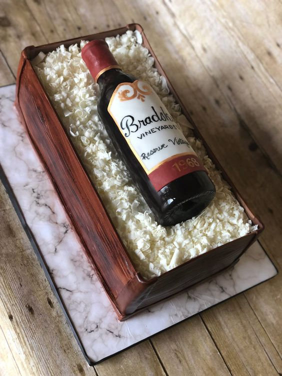Carving a wine cake and covering with fondant for a realistic bottle look