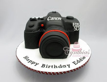 Camera Cake Tutorials made using cake and fondant sugarpaste