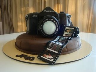Movie theme camera cake, how to carve a cake