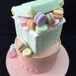 Macaron Theme Cake Tutorial - macaron box cake