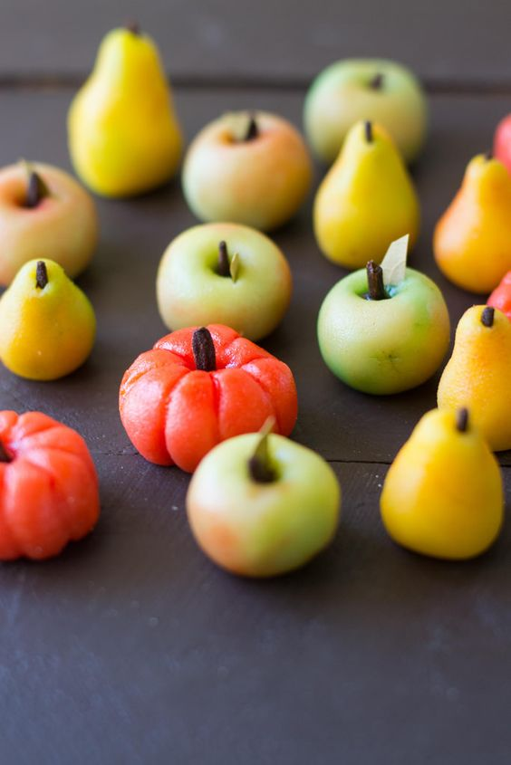 vegetables made of marzipan