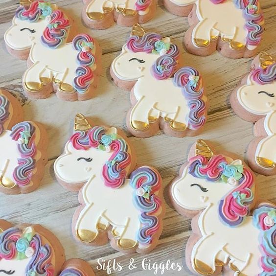 cookies iced with colorful frosting - Unicorn Cookie Tutorials