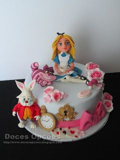 Alice in Wonderland Cake Tutorials - with sugar elements