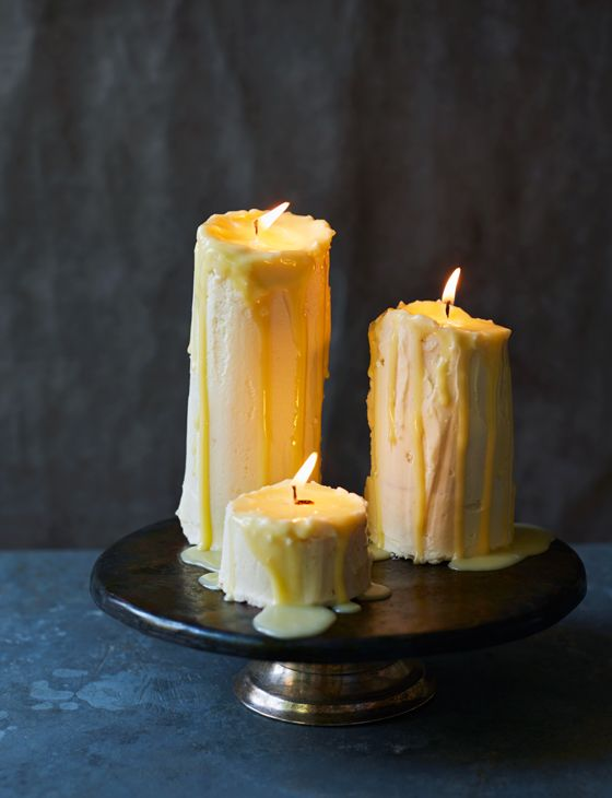 melting candle cake which looks realistic made with buttercream and frosting