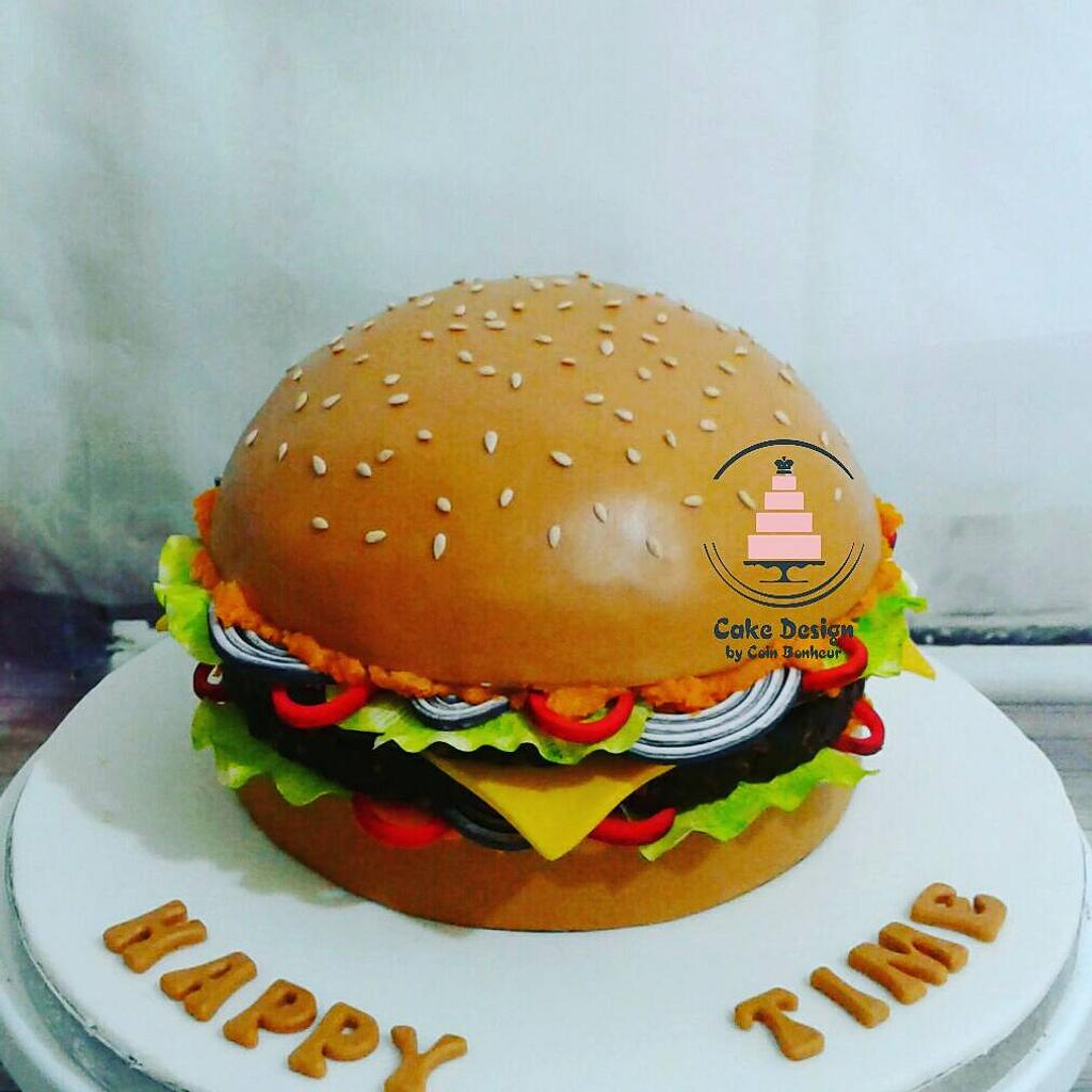 a burger theme cake with vegetables in it made of sugar - These Burger Cake Tutorials will teach you how to make a realistic burger cake from scratch. The Perfect birthday cake for burger lovers or junk food lovers