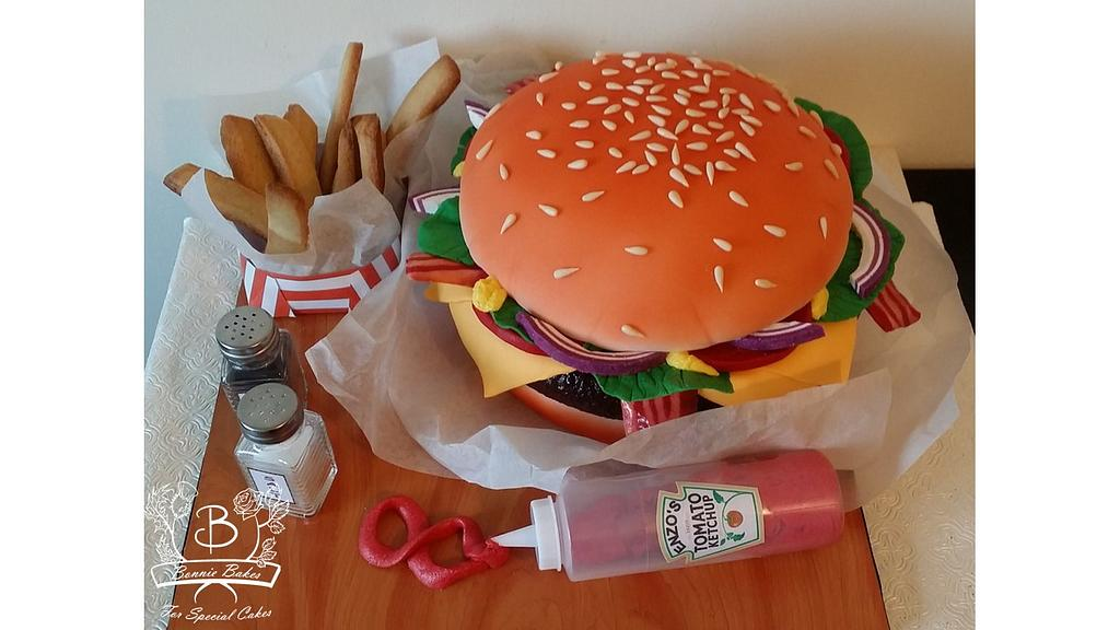 These Burger Cake Tutorials will teach you how to make a realistic burger cake from scratch. The Perfect birthday cake for burger lovers or junk food lovers
