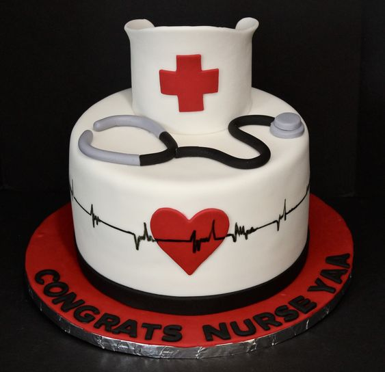Doctor's Theme Cake Tutorials - with heart beat pattern