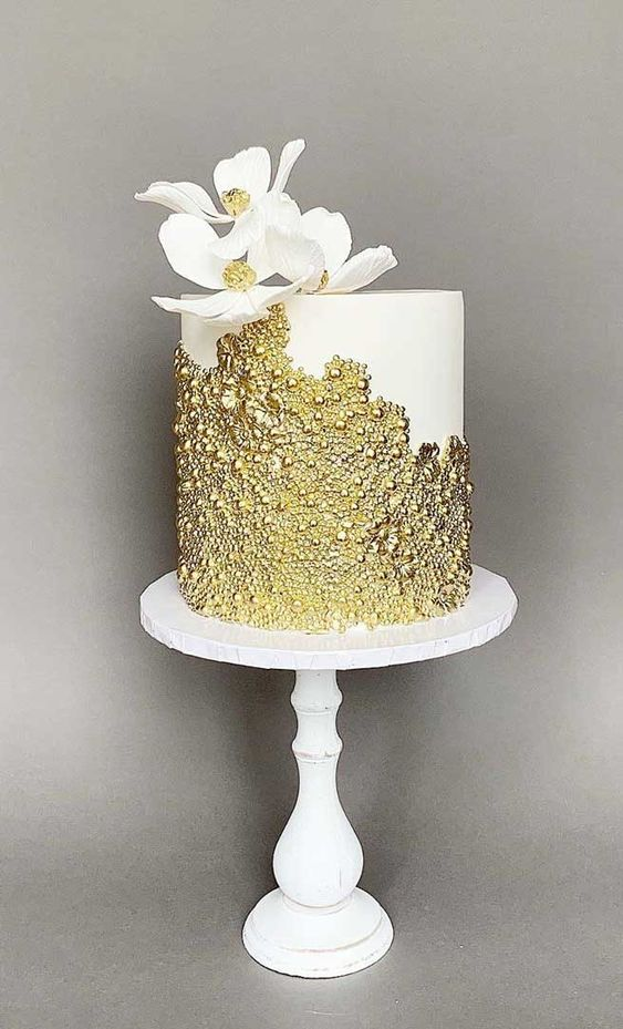 gold edible sequins work on it