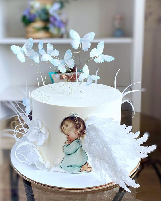 butterflies and wings made of fondant