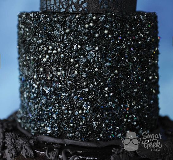 black edible sequins work on cakes