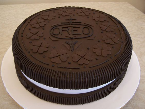 Oreo Theme Cake Tutorials - cake in the shape of an oreo biscuit