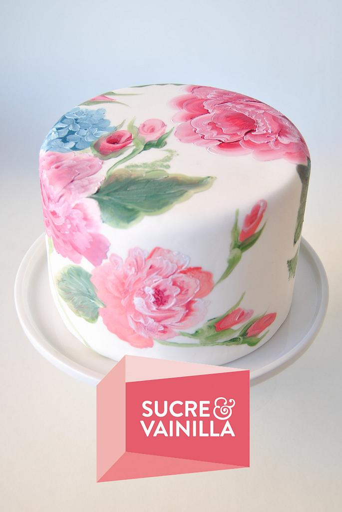 hand painted cake - Floral Theme Cake Tutorials