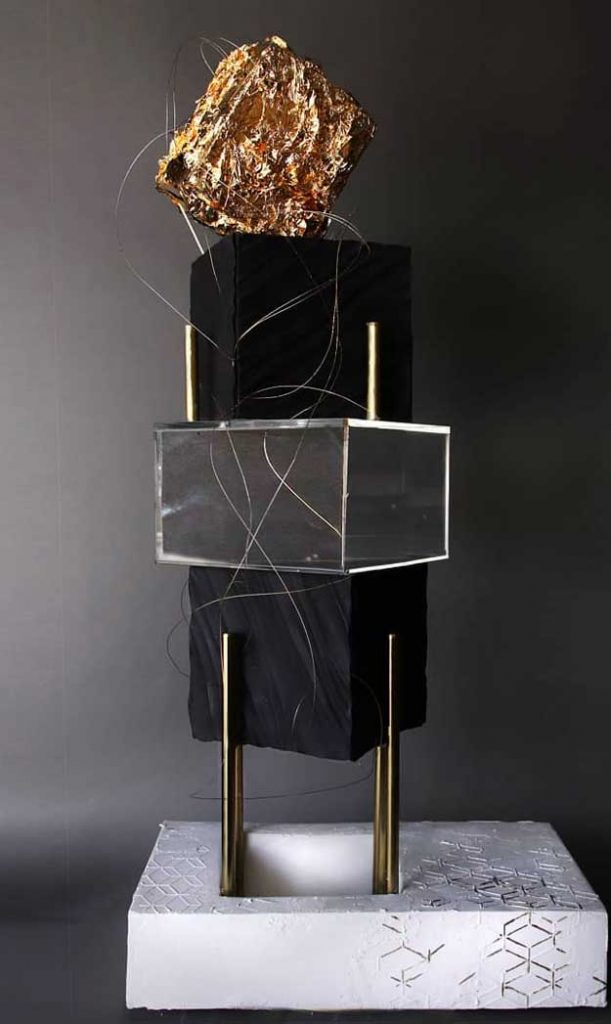 Black theme cake tutorials - with gold work on it