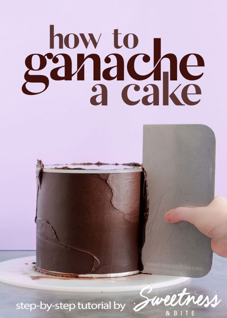 How to apply ganache to cakes with sharp edges