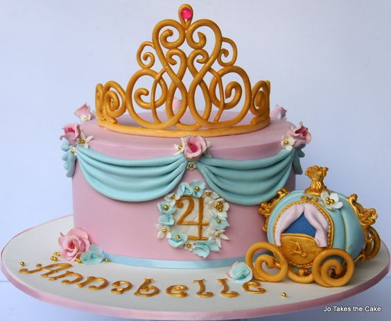gold crown made of fondant